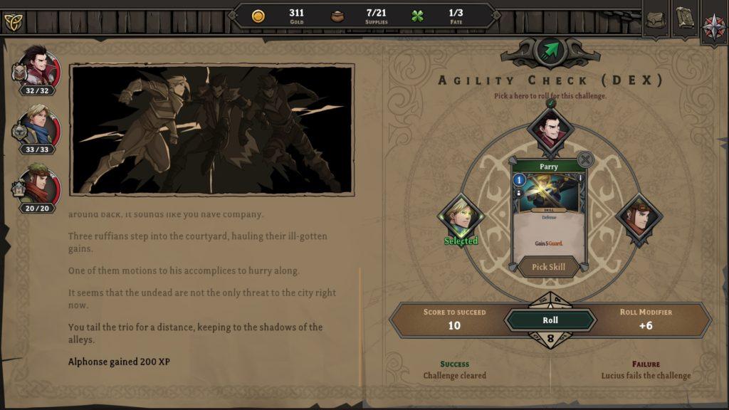Gordian Quest Ability Check