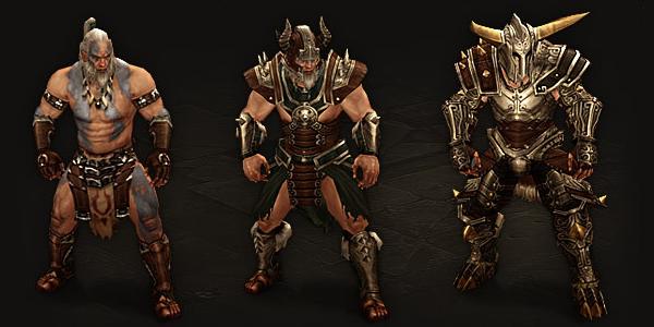 Barbarians Armor Progression
