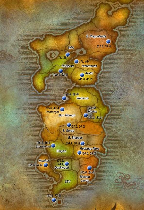Flight Points Eastern Kingdoms Alliance