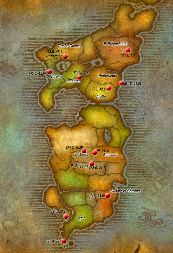 Flight Points Eastern Kingdoms Horde