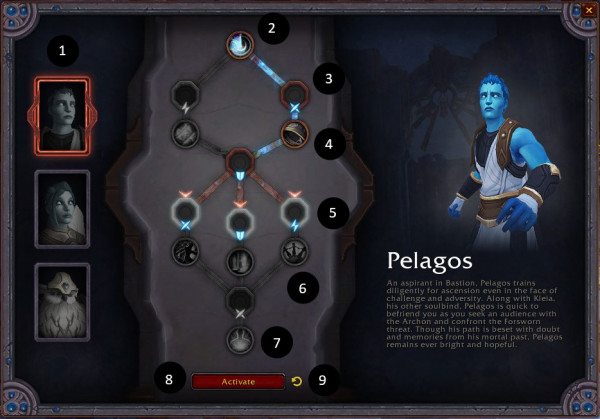 The Soulbinds Interface