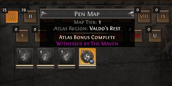 Path of Exile Echoes of the Atlas Map Witnessed