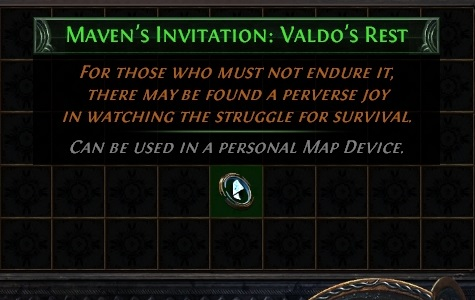 Path of Exile Echoes of the Atlas Maven's Invitation