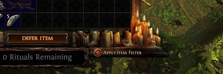 Use rerolls. If you have more than 5k Tribute points, but there are no valuable rewards, feel free to use reroll. With its help, you can double the range of rewards from Ritual on the map. The main thing is that you have enough Tribute to defer new valuable rewards, otherwise it will simply disappear, so keep an eye on Tribute points when rerolling.