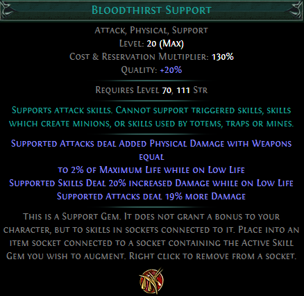 Bloodthirst Support