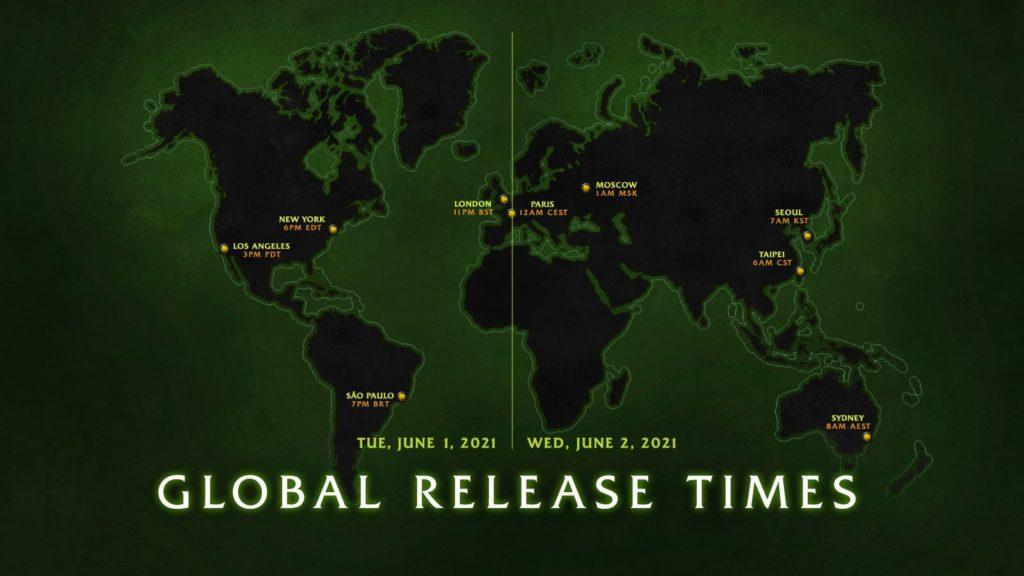 Burning Crusade Classic Global Releasing Timing Map