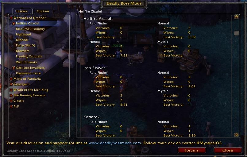 Deadly Boss Mods (DBM)