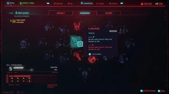 Perks in Cyberpunk 2077