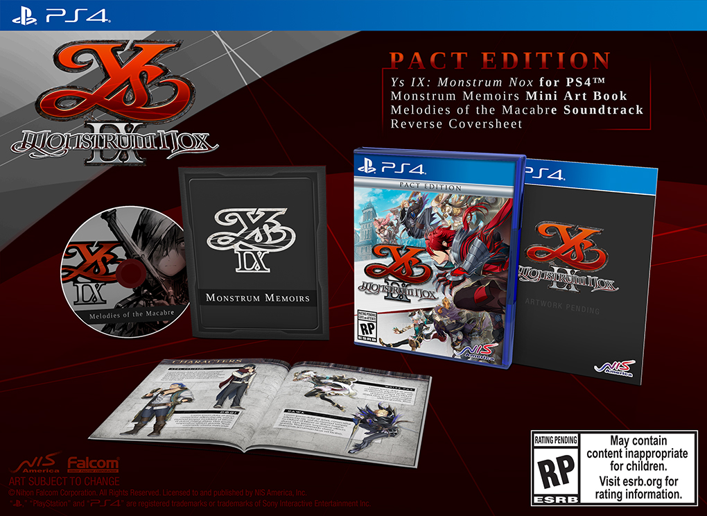 Ys IX: Monstrum Nox Pact Edition for Sony PlayStation 4